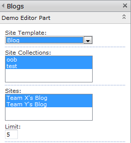 Sites under the selected site collections published with the selected web template are available to be selected from.
